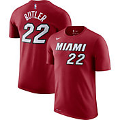 Nike Men's Miami Heat Jimmy Butler #22 Dri-FIT Statement Burgundy T-Shirt