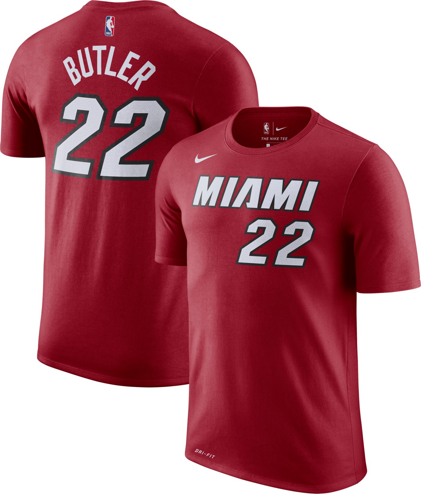 Nike Men's Miami Heat Jimmy Butler #22 Dri-FIT Burgundy T-Shirt