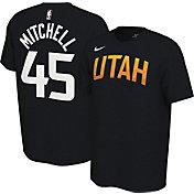 Nike Men's Utah Jazz Donovan Mitchell #45 Dri-FIT Black Earned Edition T-Shirt