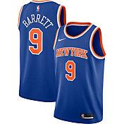 Nike Men's New York Knicks RJ Barrett #9 Blue Statement Dri-FIT Swingman Jersey