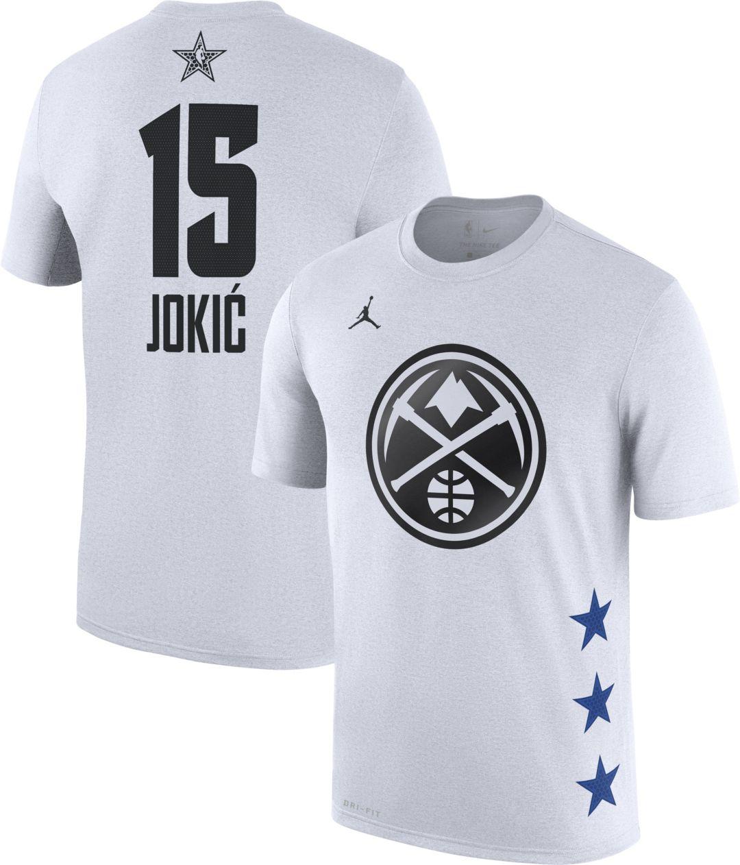 the best attitude e5e00 56edb Jordan Men's 2019 NBA All-Star Game Nikola Jokic Dri-FIT White T-Shirt