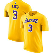 Nike Men's Los Angeles Lakers Anthony Davis #3 Dri-FIT Gold T-Shirt