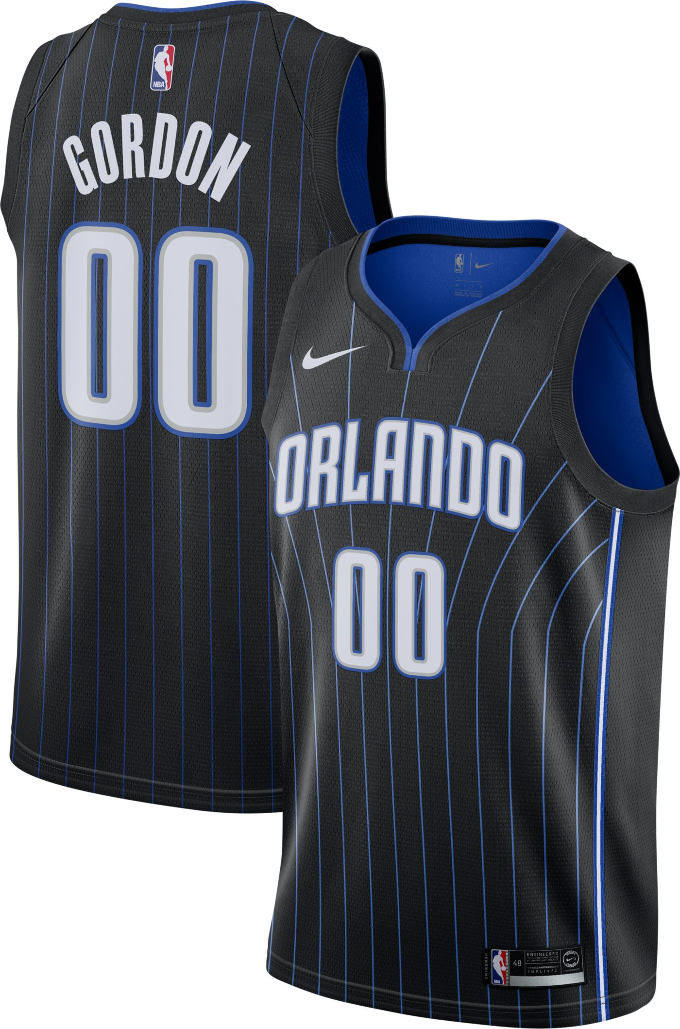 Nike Men's Orlando Magic Aaron Gordon #00 Black Dri-FIT Swingman Jersey