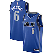 Nike Men's Dallas Mavericks Kristaps Porzingis #6 Blue Dri-FIT Swingman Jersey