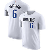Nike Youth Dallas Mavericks Kristaps Porzingis #6 Dri-FIT White T-Shirt
