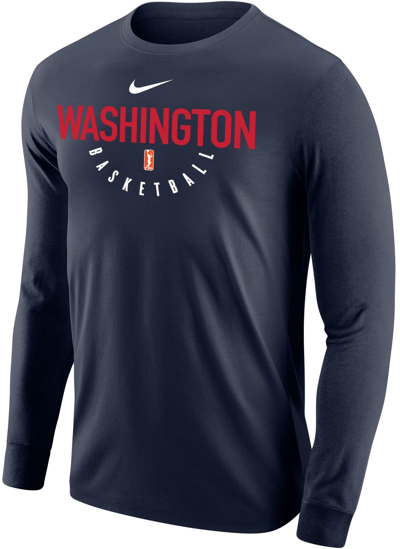 Nike Adult Washington Mystics Dri-FIT Navy Long Sleeve Shirt