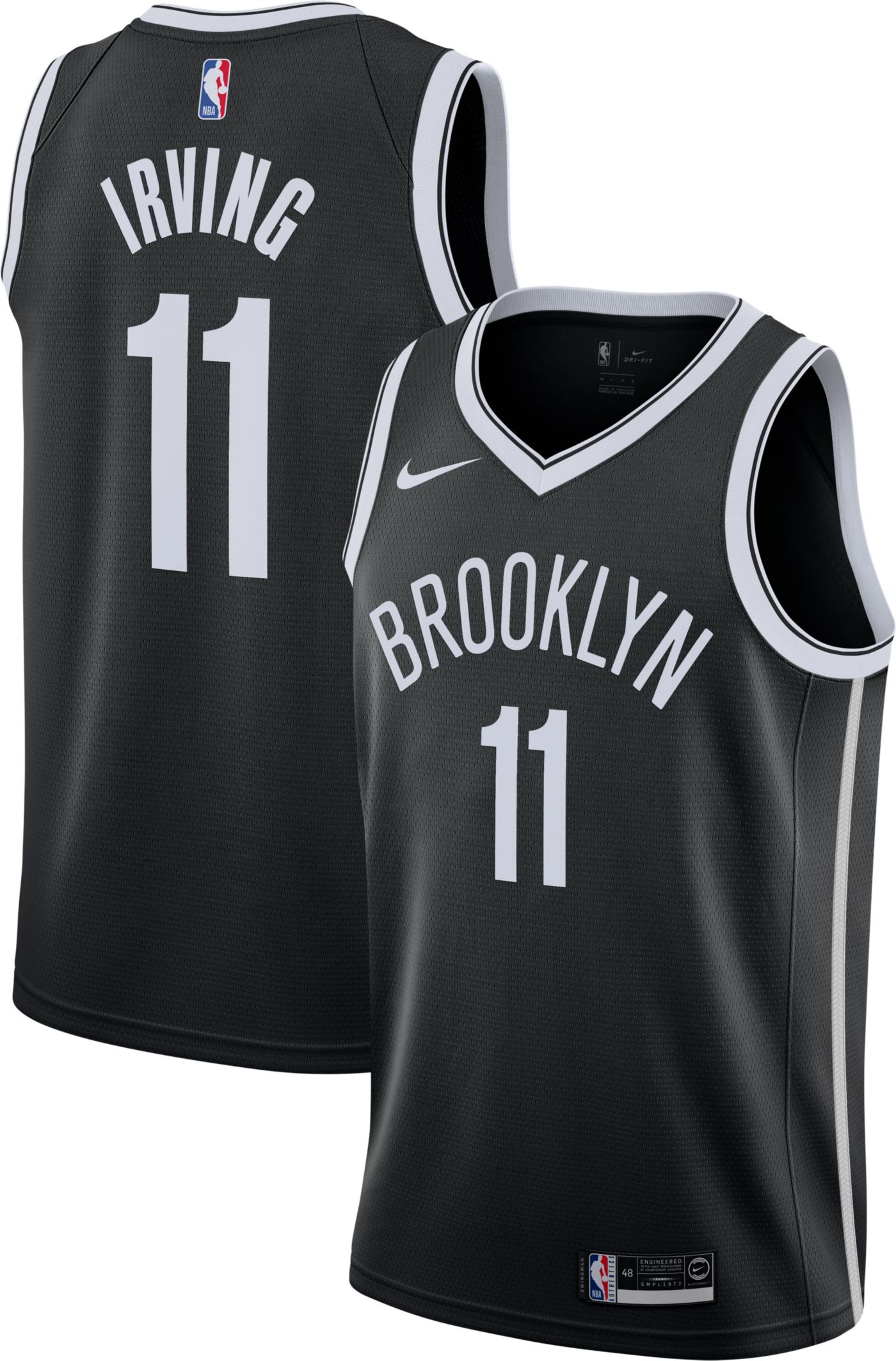 Nike Men's Brooklyn Nets Kyrie Irving #11 Black Dri-FIT Swingman Jersey