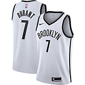Nike Men's Brooklyn Nets Kevin Durant #7 White Dri-FIT Swingman Jersey