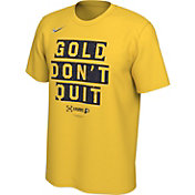 "Nike Men's Indiana Pacers 2019 Playoffs ""Gold Don't Quit"" Dri-FIT T-Shirt"