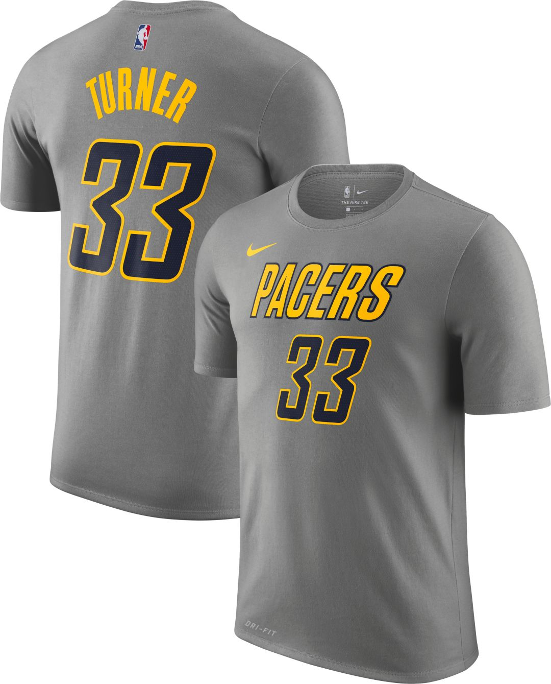 info for e0a43 cd6f5 Nike Men's Indiana Pacers Myles Turner Dri-FIT City Edition T-Shirt