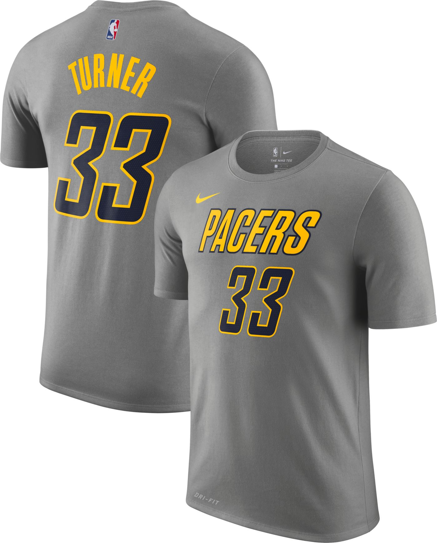 Nike Men's Indiana Pacers Myles Turner Dri-FIT City Edition T-Shirt
