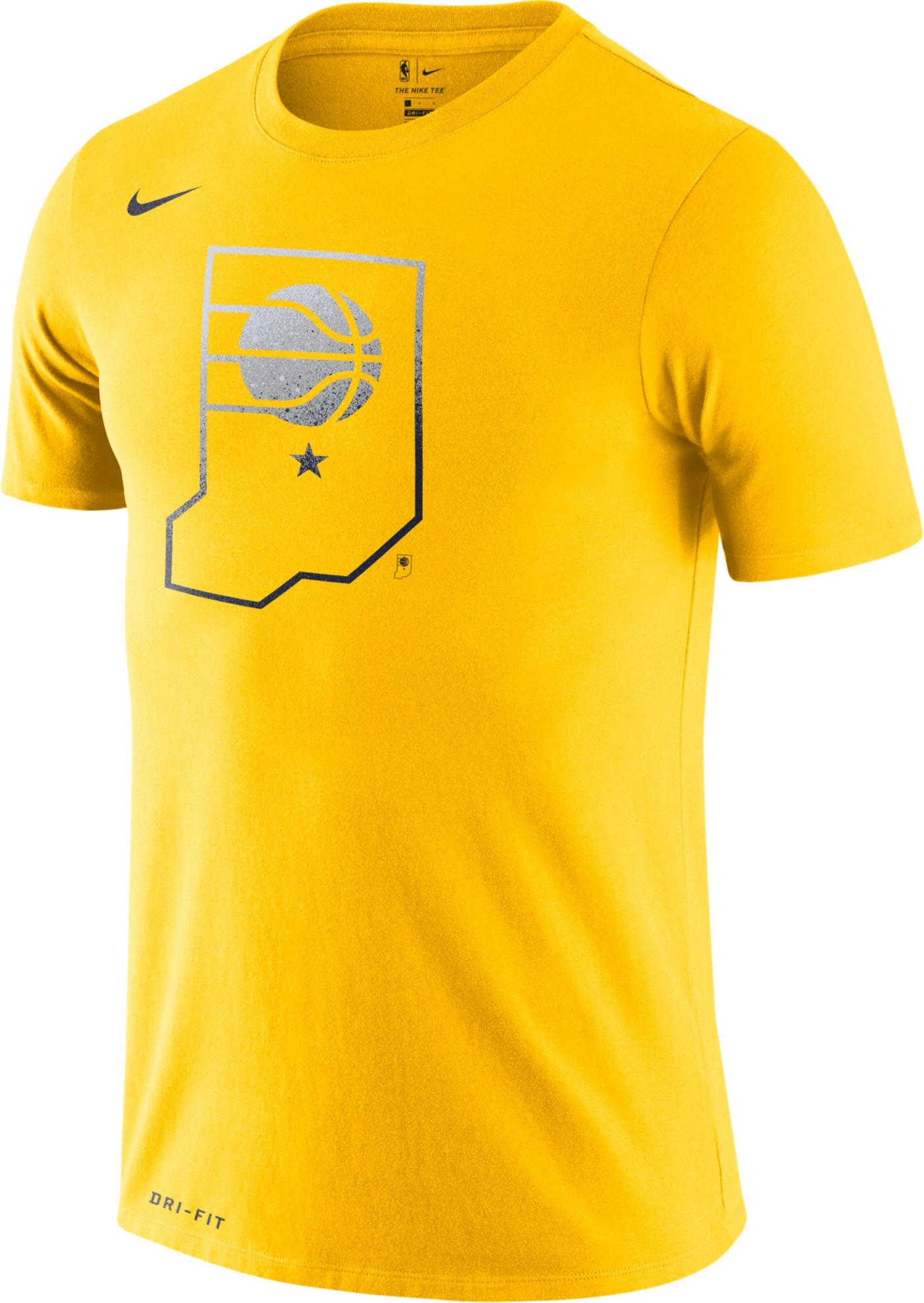 Nike Men's Indiana Pacers Dri-FIT Gold T-Shirt