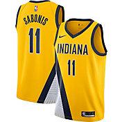 Nike Men's Indiana Pacers Domantas Sabonis #11 Yellow Statement Dri-FIT Swingman Jersey