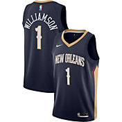 Nike Men's New Orleans Pelicans Zion Williamson #1 Navy Dri-FIT Swingman Jersey