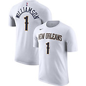 Nike Men's New Orleans Pelicans Zion Williamson #1 Dri-FIT White T-Shirt