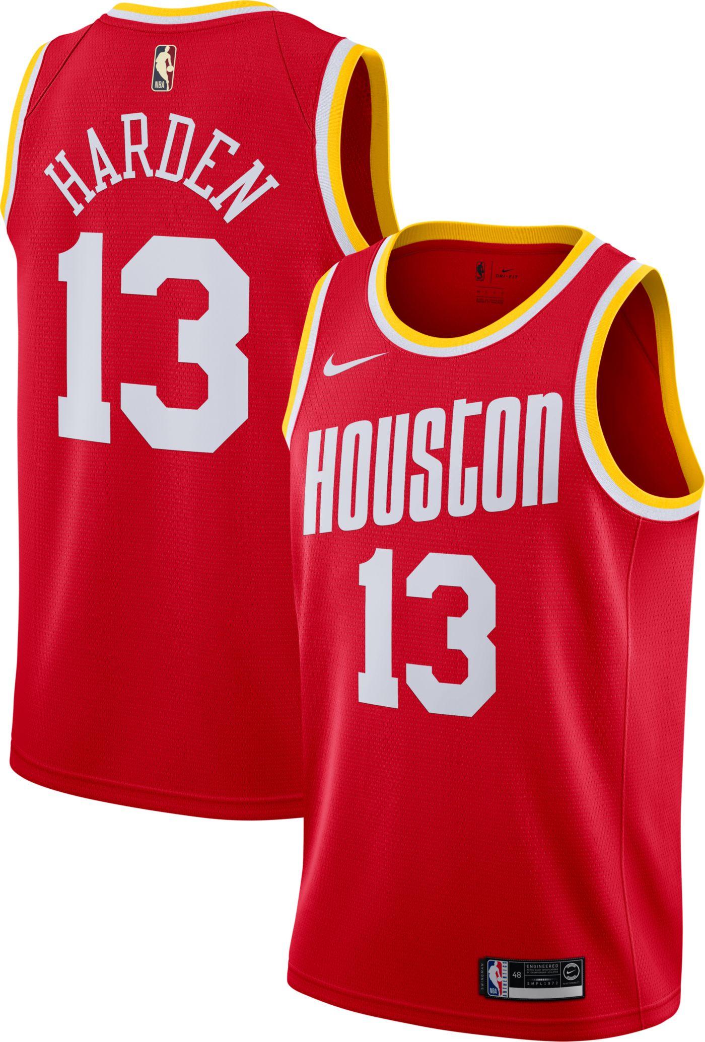 Nike Men's Houston Rockets James Harden #13 Hardwood Classic Dri-FIT Swingman Jersey