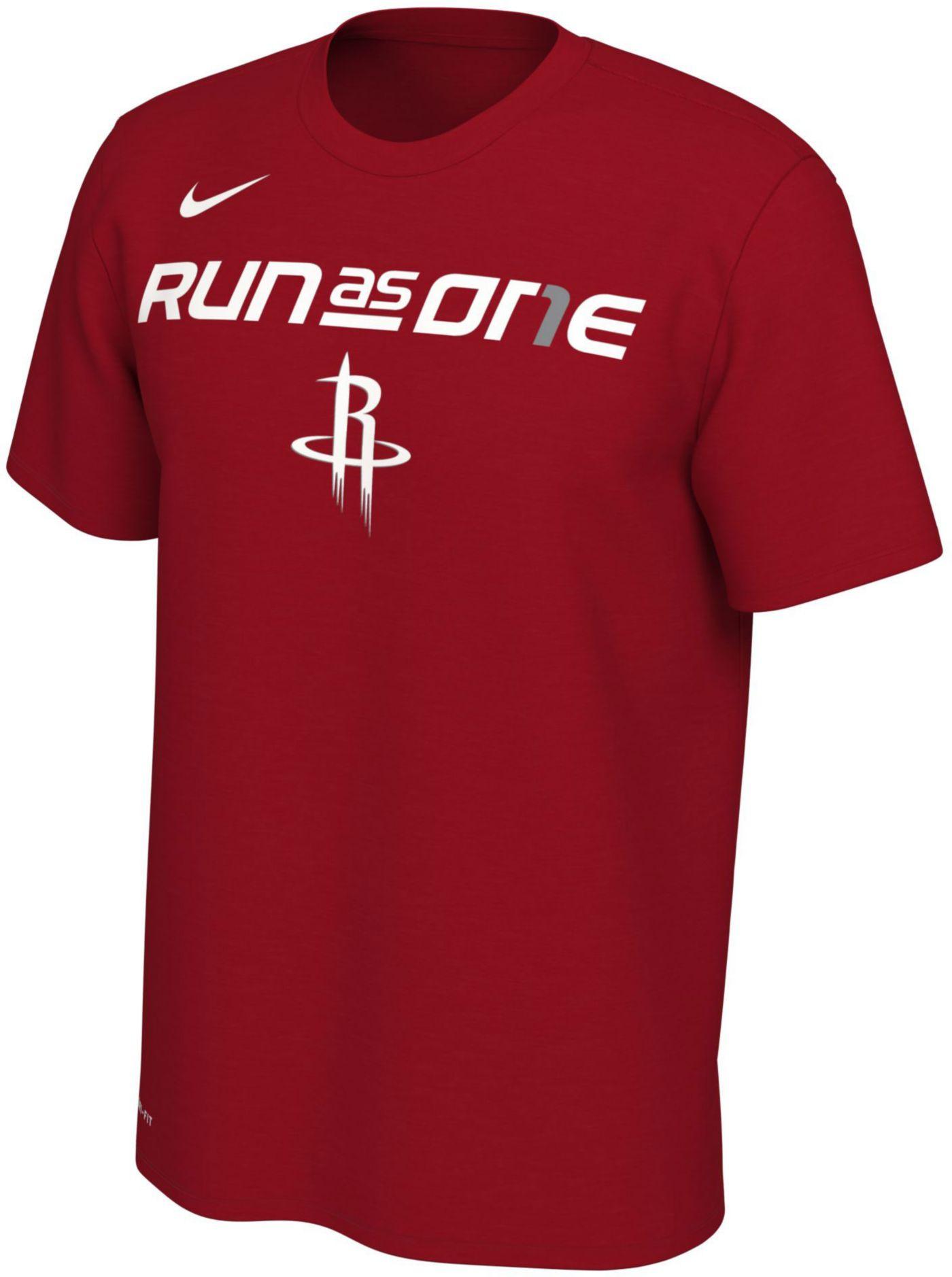 "Nike Men's Houston Rockets 2019 Playoffs ""Run As One"" Dri-FIT T-Shirt"