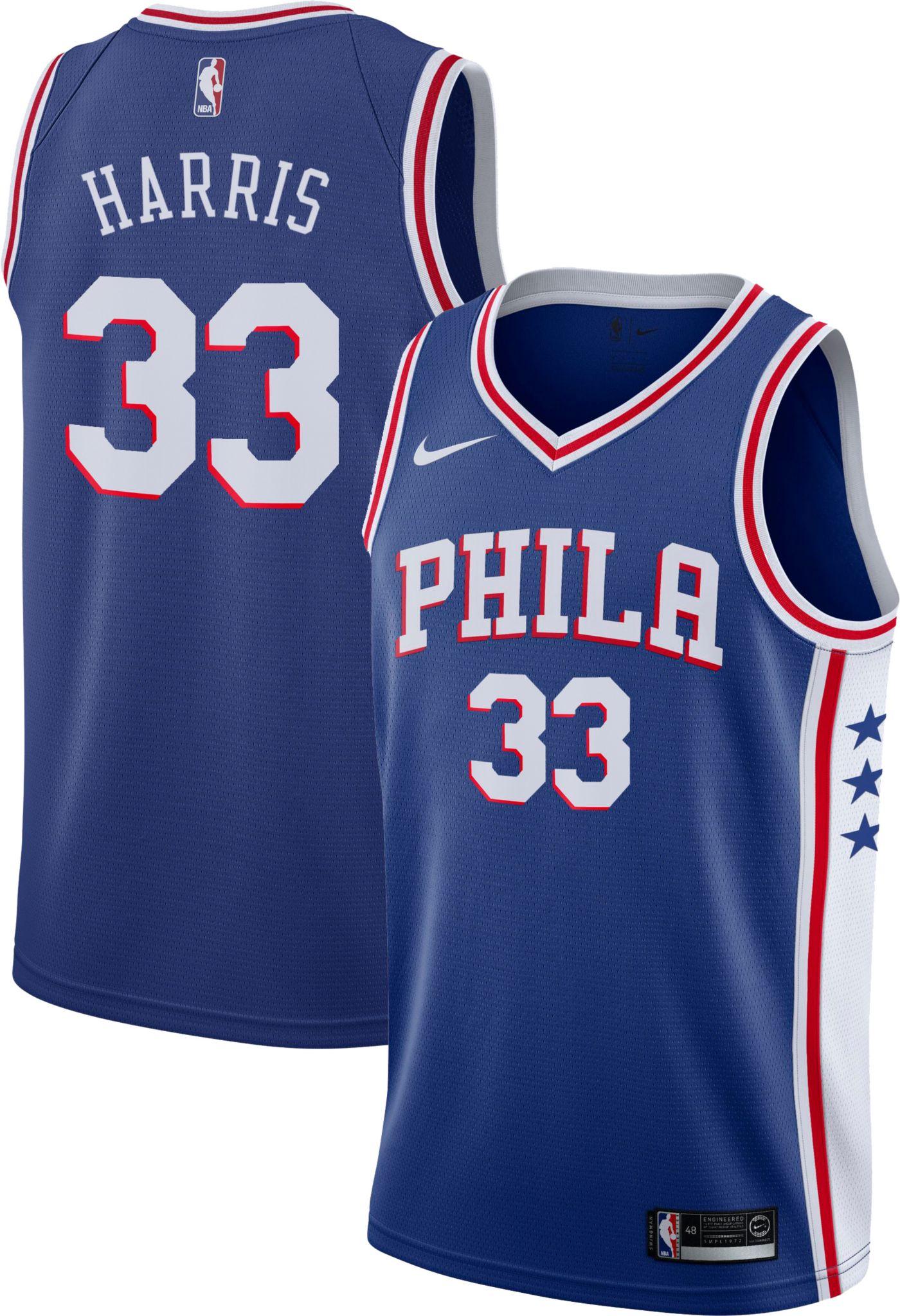 Nike Men's Philadelphia 76ers Tobias Harris #33 Royal Dri-FIT Swingman Jersey