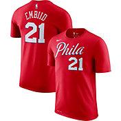 Nike Men's Philadelphia 76ers Joel Embiid #21 Dri-FIT Statement Red T-Shirt