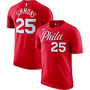 Nike Men's Philadelphia 76ers Ben Simmons #25 Dri-FIT Statement Red T-Shirt