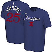 Nike Men's Philadelphia 76ers Ben Simmons #25 Dri-FIT Blue Earned Edition T-Shirt