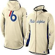 Nike Men's Philadelphia 76ers White Earned Edition Therma Flex Hoodie