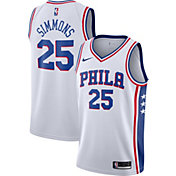 Nike Men's Philadelphia 76ers Ben Simmons #25 White Dri-FIT Swingman Jersey