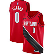 Nike Men's Portland Trail Blazers Damian Lillard #0 Red Dri-FIT Statement Swingman Jersey