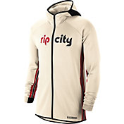 Nike Men's Portland Trail Blazers White Earned Edition Therma Flex Hoodie
