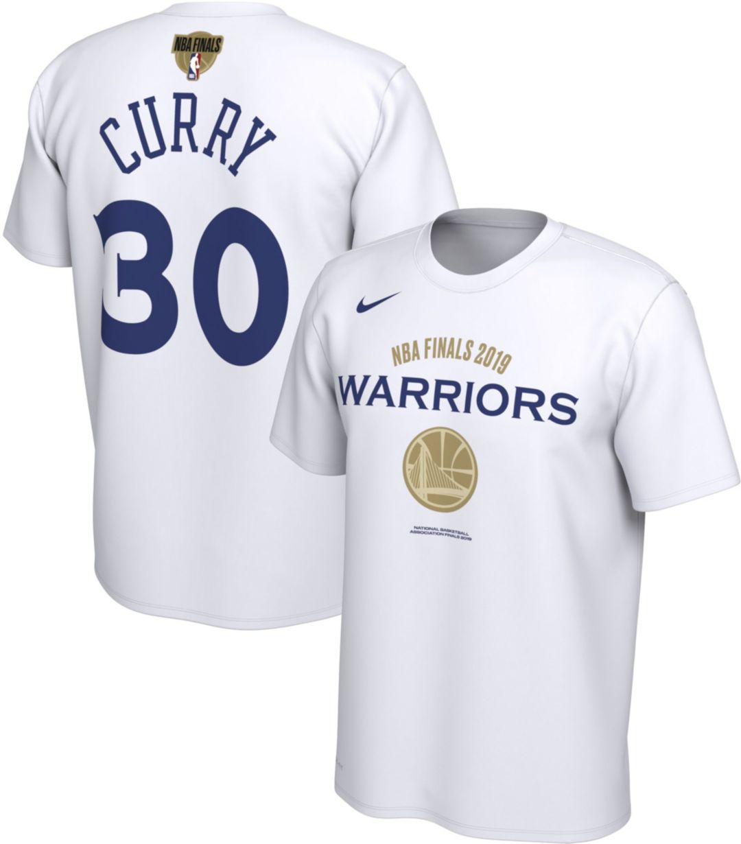 88d249c2e5d Nike Men's 2019 NBA Finals Golden State Warriors Steph Curry #30 Dri-FIT  Bench