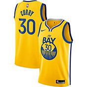Nike Men's Golden State Warriors Stephen Curry #30 Gold Dri-FIT Statement Swingman Jersey