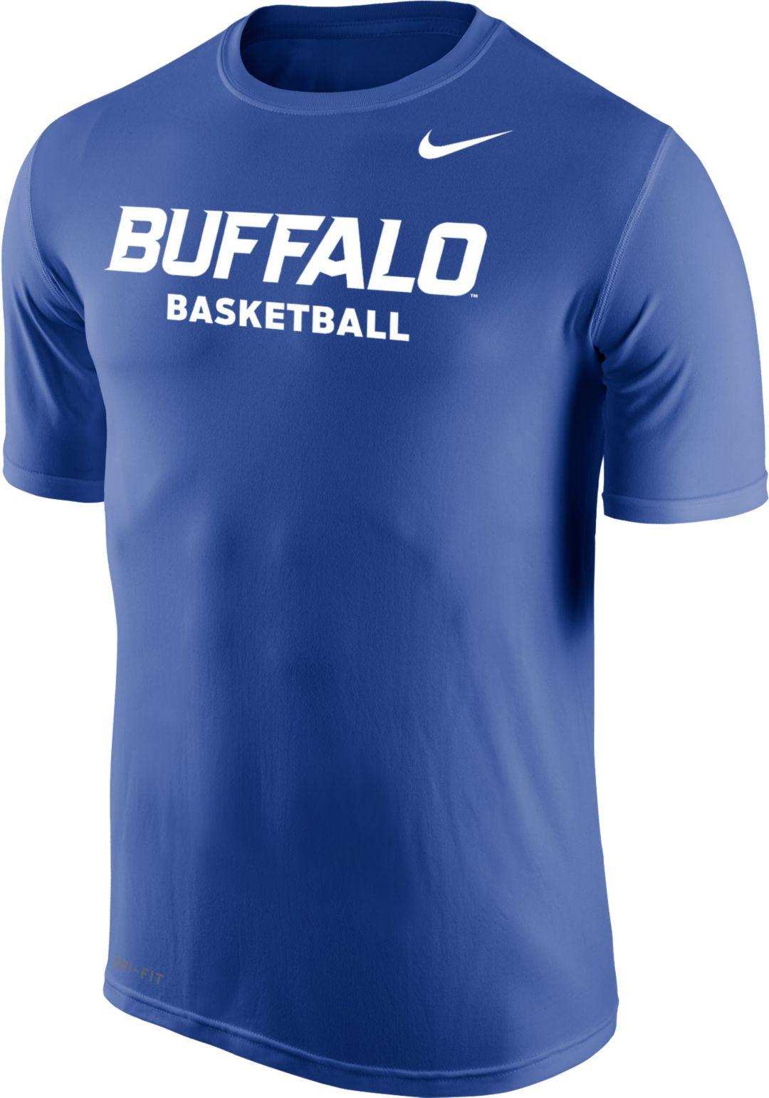 size 40 87c74 53de6 Nike Men's Buffalo Bulls Blue Dri-FIT Legend 2.0 Basketball T-Shirt