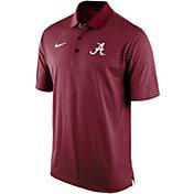 Nike Men's Alabama Crimson Tide Crimson Stadium Striped Polo