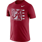 Nike Men's Alabama Crimson Tide Crimson Team Issue Logo Football T-Shirt