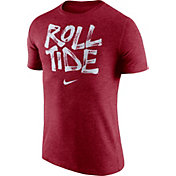 Nike Men's Alabama Crimson Tide Crimson 'Roll Tide' Tri-Blend Verbiage T-Shirt