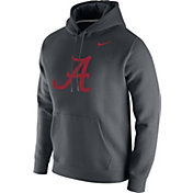 Nike Men's Alabama Crimson Tide Grey Club Fleece Pullover Hoodie