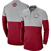 Nike Men's Alabama Crimson Tide Grey/Crimson Rivalry Football Sideline Half-Zip Jacket