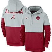 Nike Men's Alabama Crimson Tide Grey/Crimson Rivalry Therma Football Sideline Pullover Hoodie