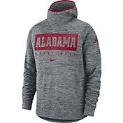 Nike Men's Alabama Crimson Tide Grey Spotlight Pullover Basketball Hoodie