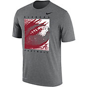 Nike Men's Alabama Crimson Tide Grey Dri-FIT Cotton Football T-Shirt