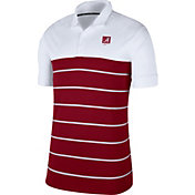 Nike Men's Alabama Crimson Tide White/Crimson Striped Polo