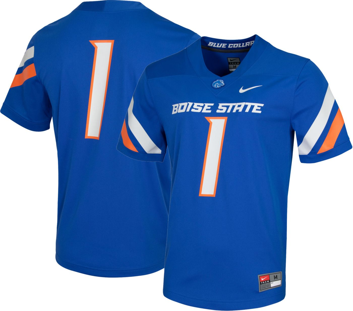 Nike Men's Boise State Broncos #1 Blue Dri-FIT Game Football Jersey