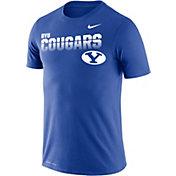 Nike Men's BYU Cougars Blue Legend Football Sideline T-Shirt