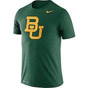 Nike Men's Baylor Bears Green Logo Dry Legend T-Shirt