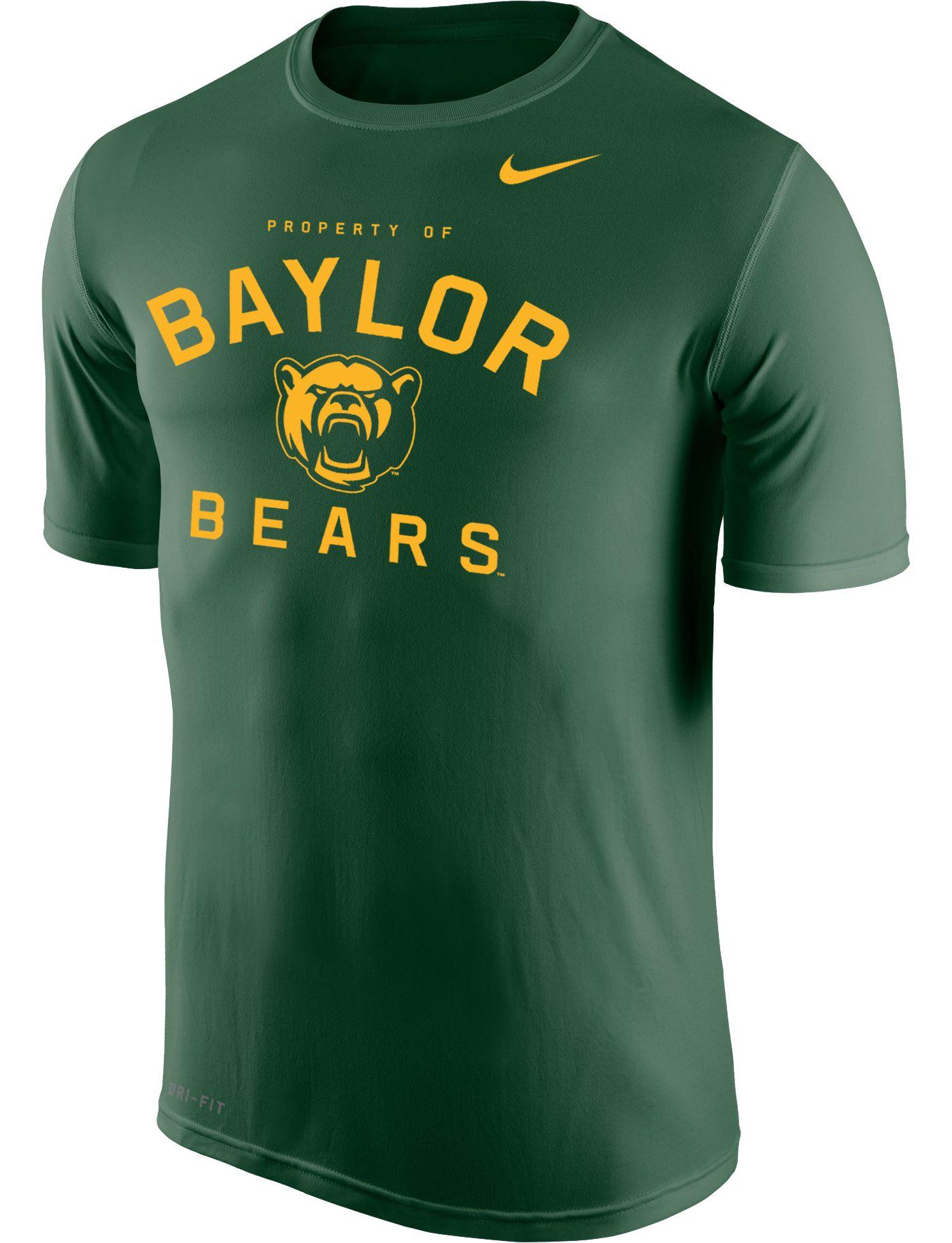 Nike Men's Baylor Bears Green 'Property Of' Dri-FIT Legend 2.0 T-Shirt