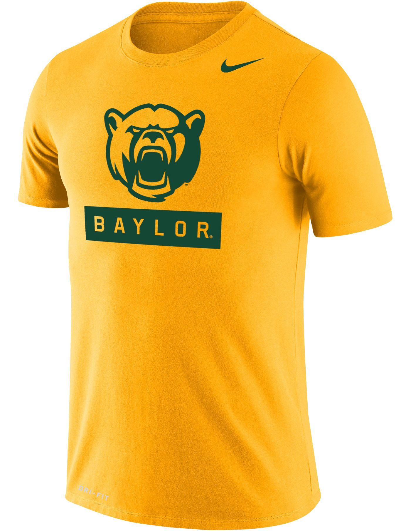 Nike Men's Baylor Bears Gold Dri-FIT Cotton T-Shirt