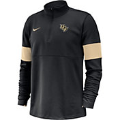 Nike Men's UCF Knights Coaches Half-Zip Black Shirt