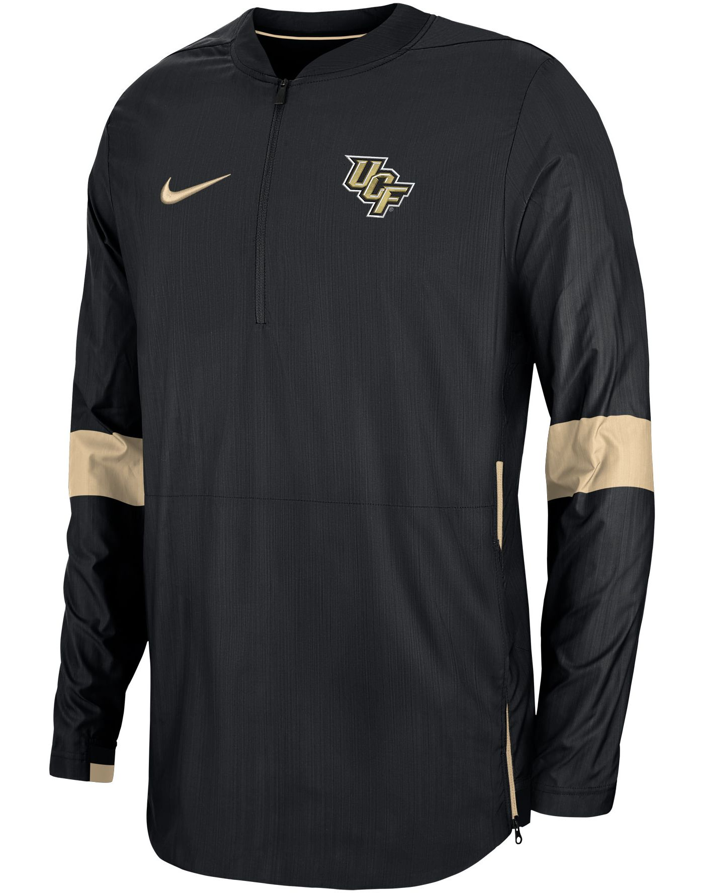 Nike Men's UCF Knights Lockdown Half-Zip Football Black Jacket