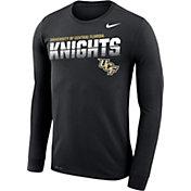 Nike Men's UCF Knights Legend Football Sideline Long Sleeve Black T-Shirt