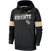 Nike Men's UCF Knights Therma Football Sideline Pullover Black Hoodie